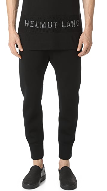 Helmut Lang Sponge Fleece Curved Leg Track Pants