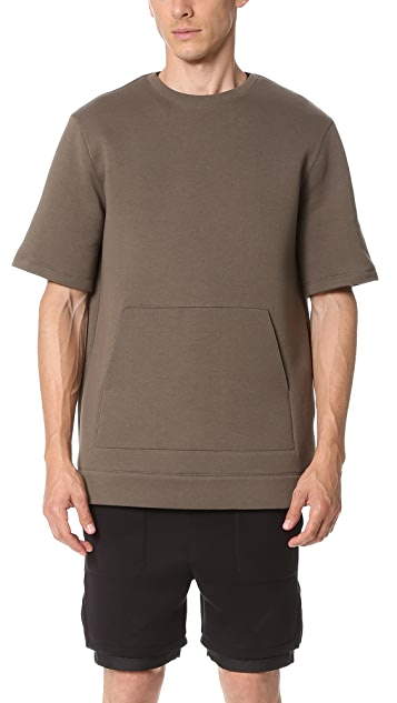 Helmut Lang Sponge Pique Oversized SS Sweatshirt
