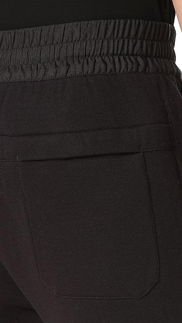 Helmut Lang Sponge Pique Combo Track Pants