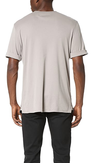 Helmut Lang Brushed Jersey Collarless Pullover