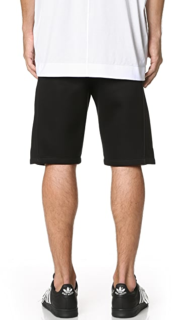 Helmut Lang Sponge Fleece Logo Track Shorts
