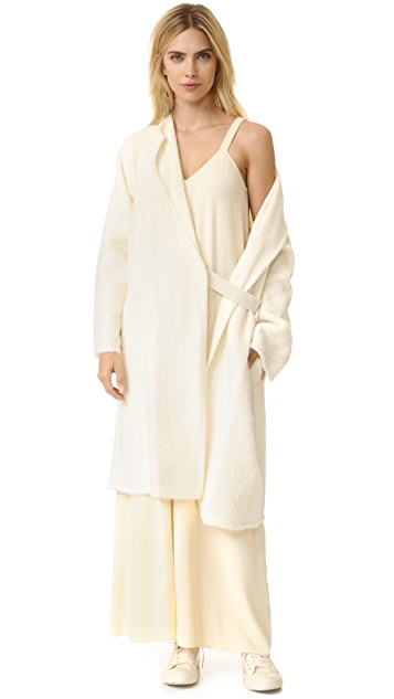 Helmut Lang Shaggy Long Coat