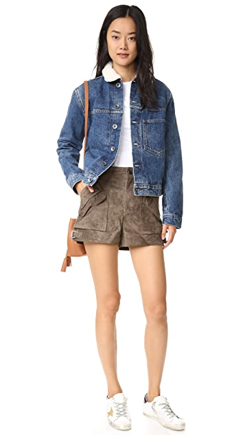 Helmut Lang Short Sherpa Denim Jacket