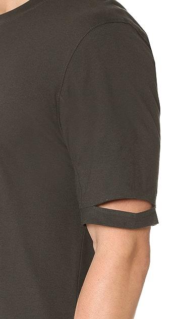 Helmut Lang Heritage Jersey Standard Fit Cut Hem Tee