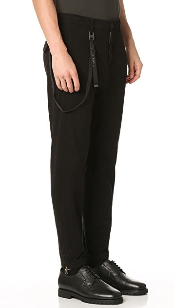 Helmut Lang Overdyed Sateen Curved Leg Track Pants