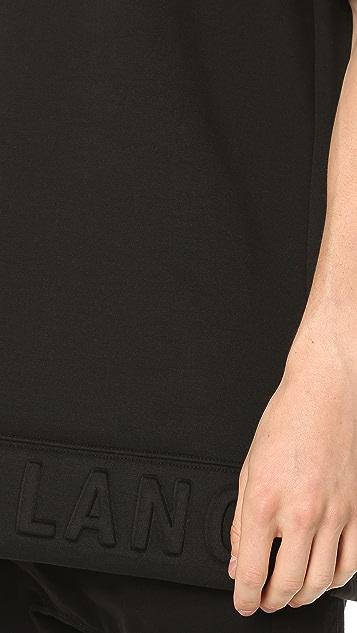 Helmut Lang 3D Neoprene Box Fit Short Sleeve Crew Tee