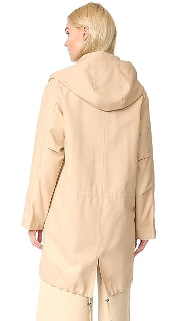 Helmut Lang Utility Fur Lined Coat