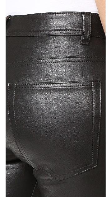 Helmut Lang Zip Leather Pants