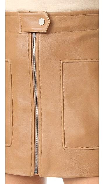 Helmut Lang Chintz Leather Miniskirt