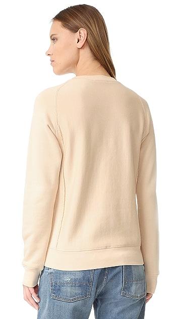 Helmut Lang Terry Shrunken Sweatshirt