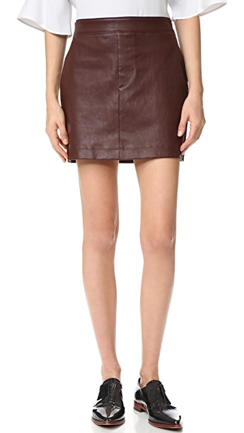 a7cf0369bc94 Helmut Lang Stretch Leather Mini Skirt ...