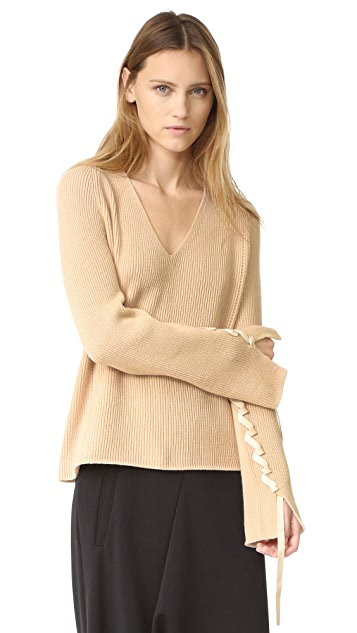 Helmut Lang Wool Cashmere V Neck Sweater