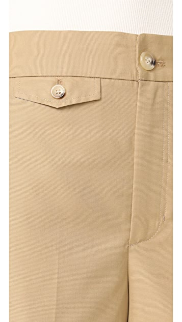Helmut Lang Wide Leg Cropped Pants
