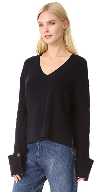 Helmut Lang Slouchy Sleeve Sweater