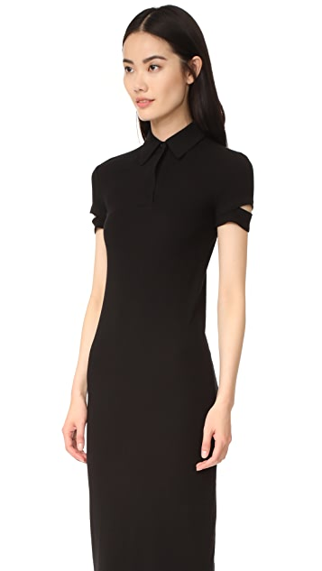 Helmut Lang Ribbed Shirtdress