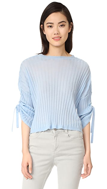 Helmut Lang Cashmere Tie Sleeve Pullover