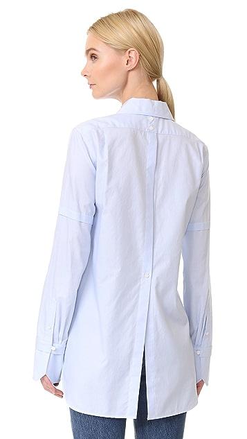 Helmut Lang Ticking Stripe Tuxedo Shirt