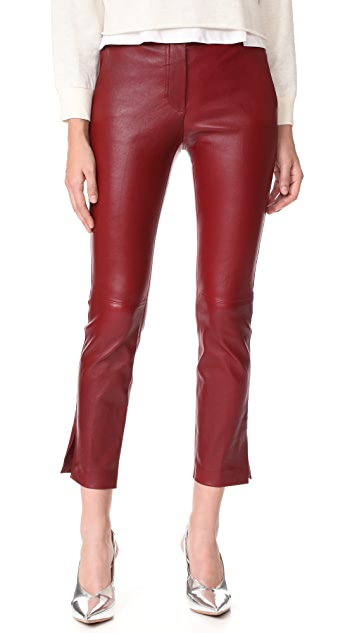 Helmut Lang Straight Leather Pants