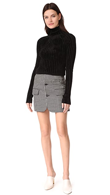 Helmut Lang Cropped T Neck Pullover