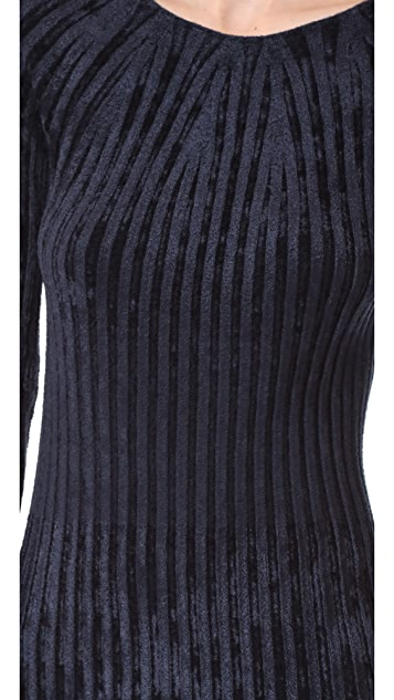 Helmut Lang Velour Dress