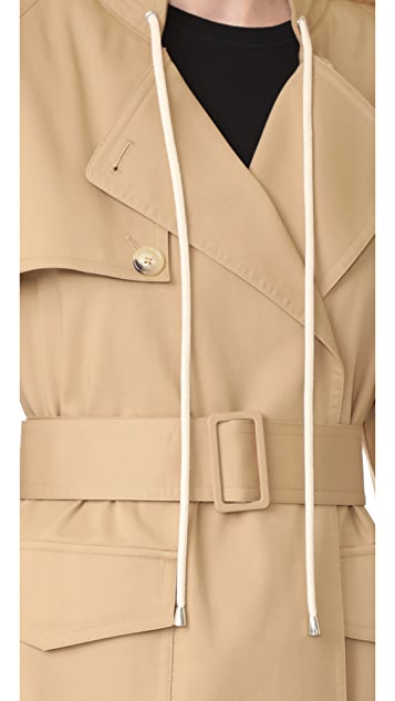 Helmut Lang Oversized Cotton Trench Coat