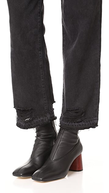 Helmut Lang Midcalf Stretch Boots