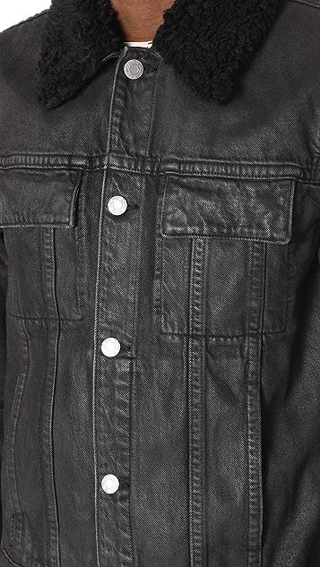 Helmut Lang Sherpa Collared Denim Jacket