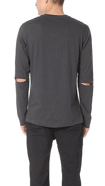 Helmut Lang Elbow Slit Long Sleeve Shirt