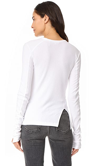 Helmut Lang Deconstructed Long Sleeve Tee