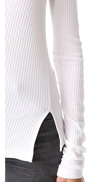 Helmut Lang Deconstructed Long Sleeve Tee