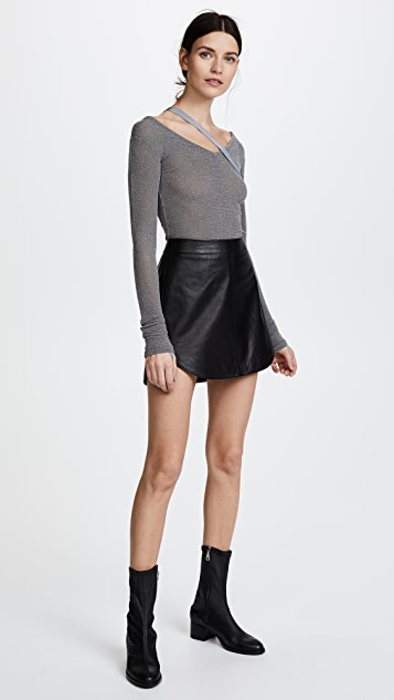 Helmut Lang Strap V Neck Top