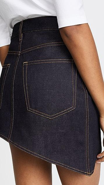 Helmut Lang Asymmetric 5 Pocket Skirt