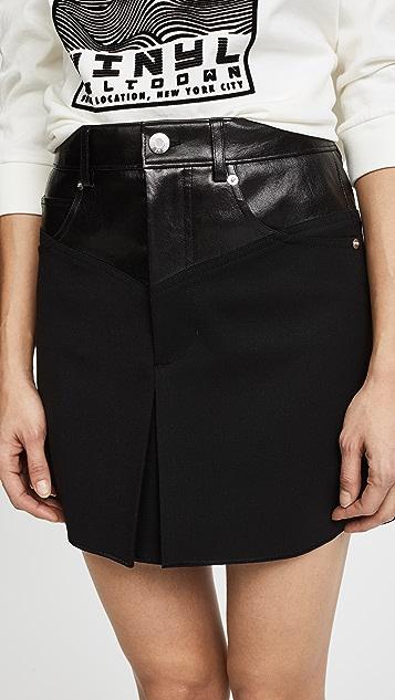 Helmut Lang Garter Miniskirt