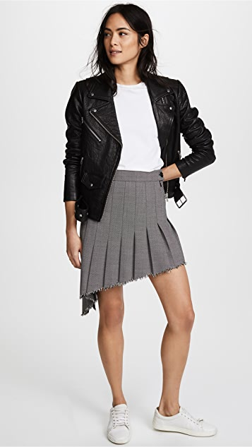 Helmut Lang Angled Pleat Skirt