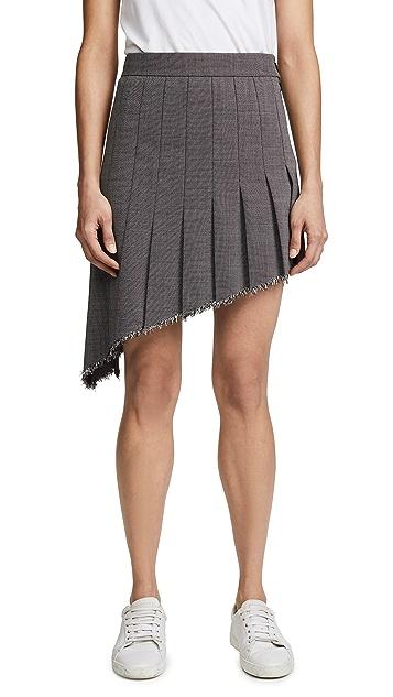Helmut Lang Angled Pleat Skirt