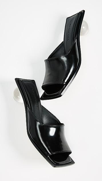 Helmut Lang Lucite Ball Slides