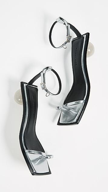 Helmut Lang Pierced Ring Sandals