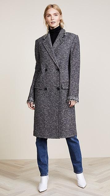 Helmut Lang Deconstructed Overcoat - Melange Grey
