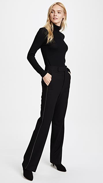 Helmut Lang Textured Suiting Pants with Zipper Detail