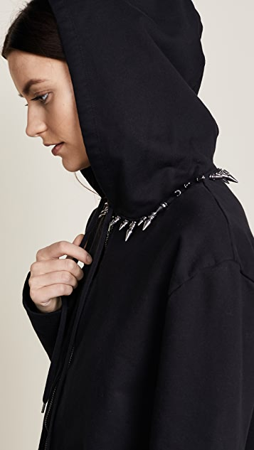 Helmut Lang RE-EDITION Stud Collar Hoodie