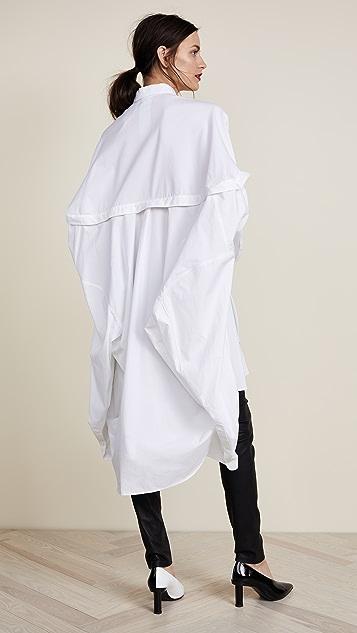Helmut Lang Poncho Oversized Tunic Dress