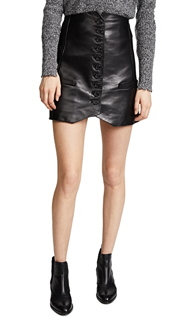 Helmut Lang Leather Vest Skirt