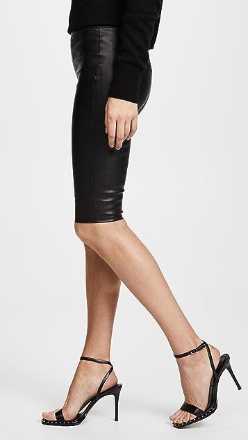Helmut Lang Crop Leather Leggings