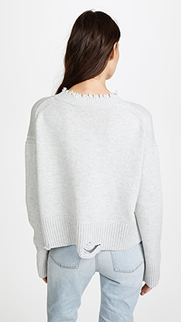 Helmut Lang Distressed Crew Sweater