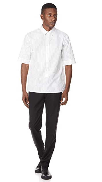 Helmut Lang Short Sleeve Placket Shirt
