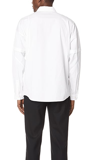 Helmut Lang Distorted Arm Long Sleeve Shirt