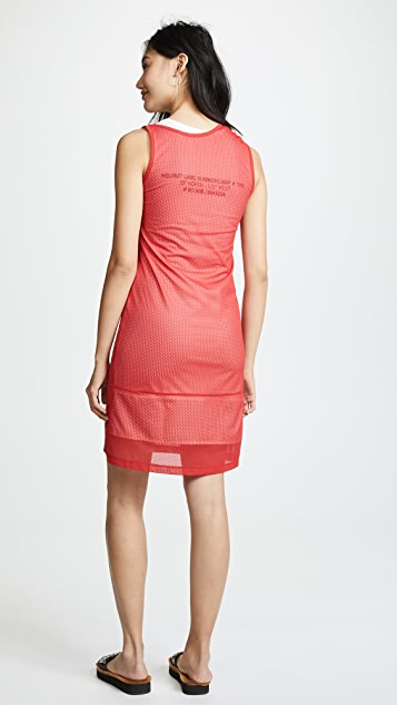 Helmut Lang Mesh Layered Tank Dress