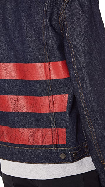 Helmut Lang Denim Jacket with Stripes