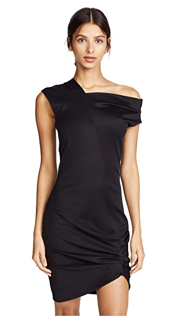 Helmut Lang Front Drape Dress