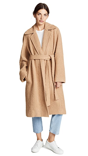 Helmut Lang Napped Wool Coat